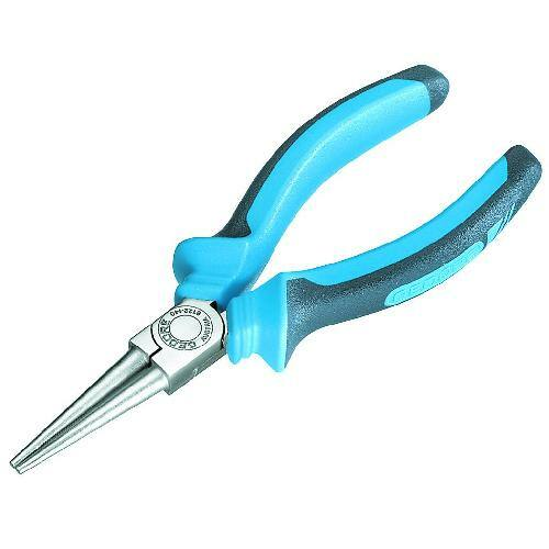 Gedore kerekcsőrű fogó, 160 mm, 2K markolat (8122-160 JC)