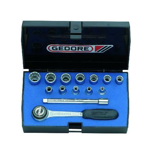 Gedore dugókulcs készlet 1/4'' 4-13 mm (D 20 DMU-3)