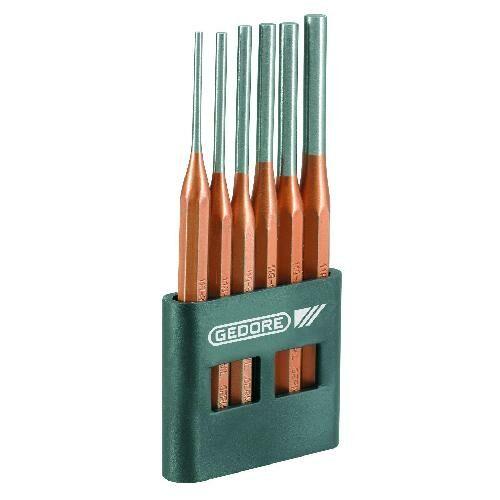 Gedore sasszegkiütő készlet 6 részes, PVC tartóban (116 A)