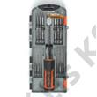 Tactix pergőcsavarhúzó + bit készlet  19 részes