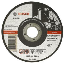 Bosch vágókorong 125x1.0mm INOX