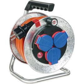Brennenstuhl fém kábeldobos hosszabító - narancssárga 3x1.5 IP44 25m