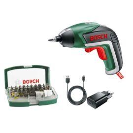 Bosch IXO V akkus csavarbehajtó 3.6V 1.5Ah + 32 darabos bitkészlet
