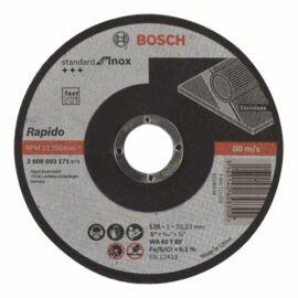 Bosch vágókorong 125x1mm INOX egyenes WA 60 T BF