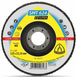 Klingspor lamellás csiszolótányér nemesacélhoz SMT624  125 P40 Supra