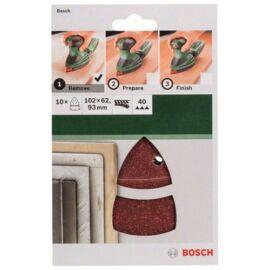 Bosch delta csiszolólap készlet 102x62/93mm P40 (10db/cs)