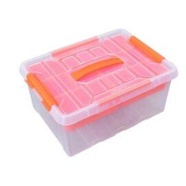 Tactix átlátszó tároló doboz 15 liter