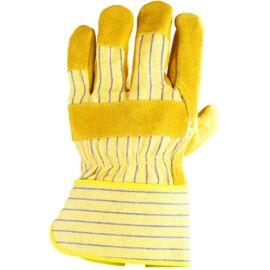 Bőrkesztyű sárga marhahasíték/színbőr tenyérfolttal 10