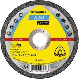 Klingspor vágókorong 125x1x22.23mm A 60 EX S Egyenes