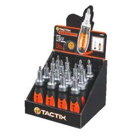 Tactix racsnis csavarhúzó 6 az 1-ben