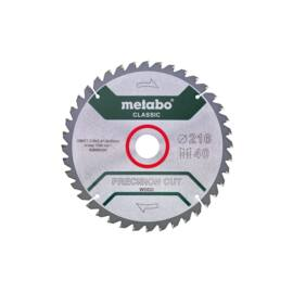 Metabo körfűrészlap 216x30 Z40 WZ precision cut wood