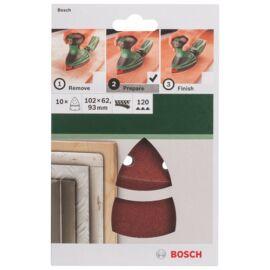 Bosch delta csiszolólap készlet multicsiszolókhoz 102x62/93mm P120 10db