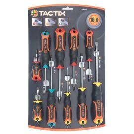 Tactix csavarhúzó készlet 10 részes lapos+PH+TX