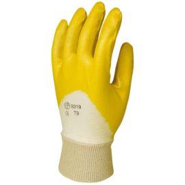 TENYÉREN mártott sárga nitril kesztyű 10