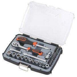 Tactix 1/4'' dugókulcs készlet 37 részes