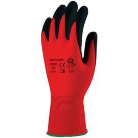 Mártott fekete latex piros textil kézháttal 10