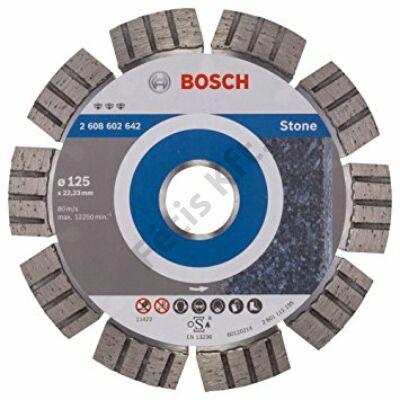 Bosch gyémánttárcsa 125 mm STONE HPP