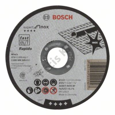 Bosch Expert for Inox – Rapido vágókorong 115x1 egyenes
