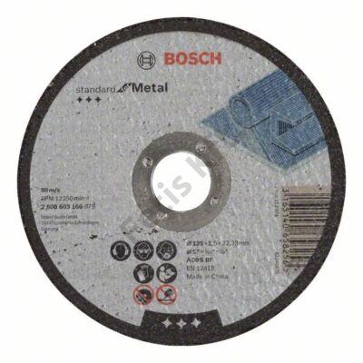 Bosch Standard for Metal vágókorong 125x2.5 fém egyenes