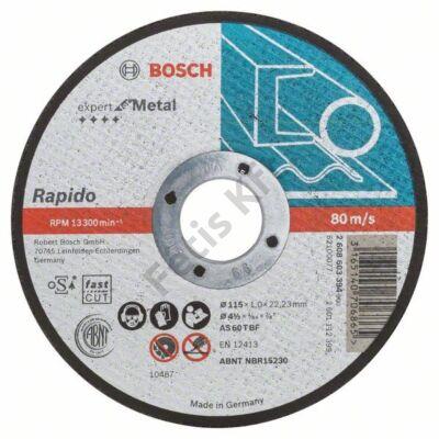 Bosch Expert for Metal – Rapido vágókorong 115x1 fém egyenes