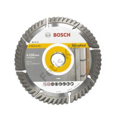 Bosch gyémánt vágótárcsa  Standard for Universal 150X22,23 mm