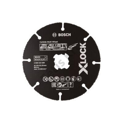 Bosch Carbide multi Wheel X-Lock vágótárcsa 125mm