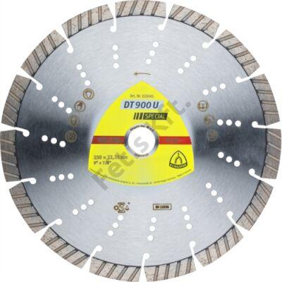 Klingspor gyémánt vágókorong 230x2.6x22.23mm P DT 900 U ST=Turbó szegmens