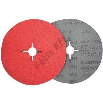 3M fiber Cubitron II csiszolótárcsa 987C180mm P80