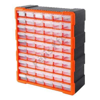 Tactix szortiment szekrény 60 fiókkal 48.5x38.5x16 cm