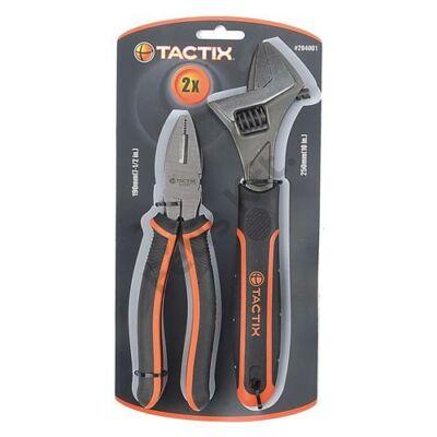 Tactix fogó és állítható villáskulcs készlet 2 részes