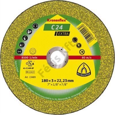 Klingspor kővágókorong 180x3x22.23mm C 24 EX S Egyenes