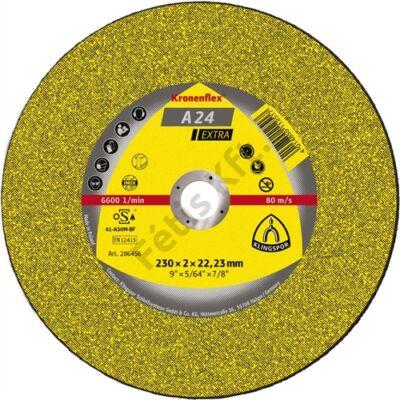 Klingspor vágókorong 230x3x22.23mm A 24 EX S Egyenes