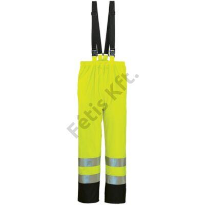FLUO sárga/kék PU esőnadrág L (48/50)