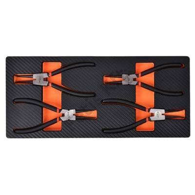 Tactix szerszámkészlet modul 4 részes seegerfogó készlet, szivacstálcával