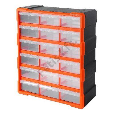 Tactix szortiment szekrény 18 fiókkal