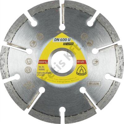 Klingspor gyémánt vágókorong 125x4.5x22.23mm P DN 600 U S=Standard