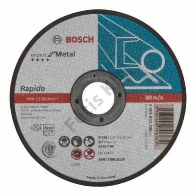 Bosch vágókorong 125x1 fém egyenes