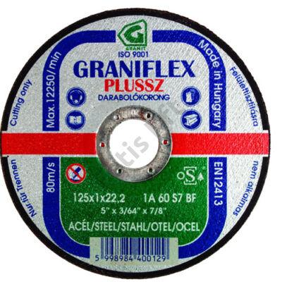 GRANIFLEX Plussz vágókorong 125x3,2 fém