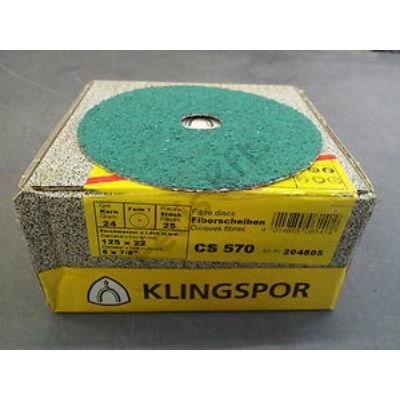 Klingspor csiszolópapír 115 inox P  80 CS570