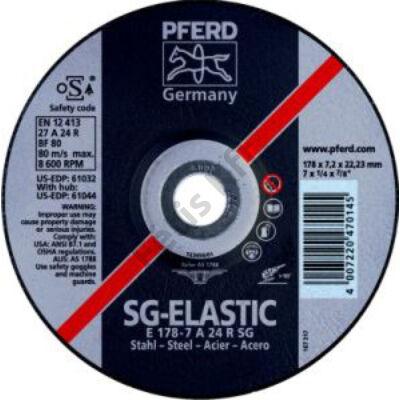 Pferd tisztítókorong acélhoz 178x6,3 hajlított  (Format)