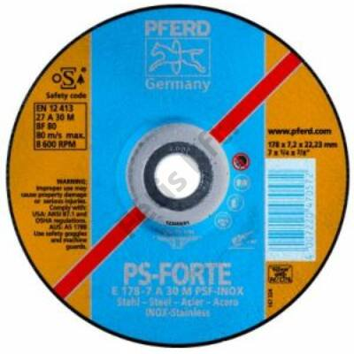 Pferd tisztítókorong V2A-hoz 178x6,3 hajlított  (Format)