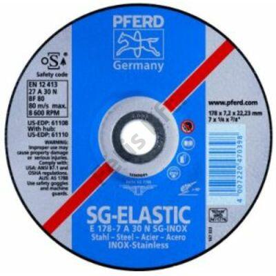 Pferd tisztítókorong V2A-hoz 230x8,3 hajlított  (Format)