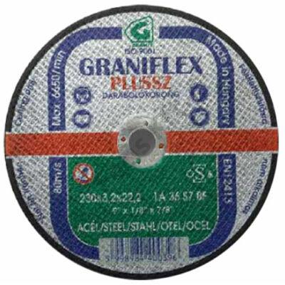 GRANIFLEX Plussz 1A vágókorong acélokhoz 230 x 2,5 x 2,22