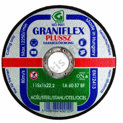 GRANIFLEX Plussz 1A vágókorong acélokhoz 115 x 1 x 2,22