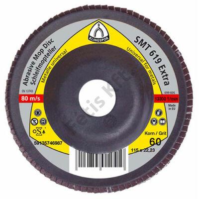 Klingspor SMT619 Lamellás csiszolótányér 125 x 22,2    P 60