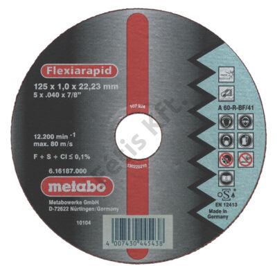 Metabo vágókorong 125X1,0  INOX A60RBF