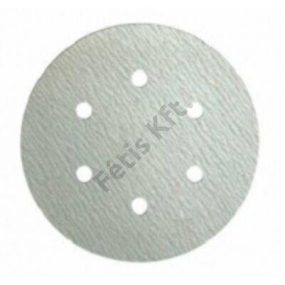 Klingspor tépőzáras csiszolópapír 150 mm átmérőjű P180 GLS3 (6 lyuk)