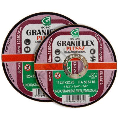GRANIFLEX Plussz INOX 11A darabolókorong rozsdamenteshez acélokhoz 230 x 1.9 x 22,2