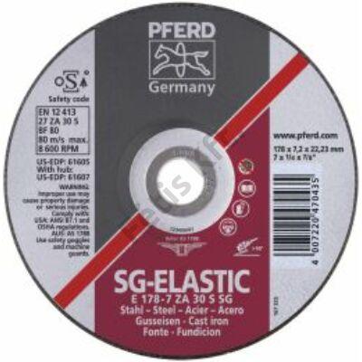 Pferd tisztItó tárcsa ZA30S SG 178x7,2mm gekr.  (Format)