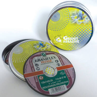 Graiflex Plussz vékony inox vágókorong 11A (115X1x22,2) + 15db/fémdoboz